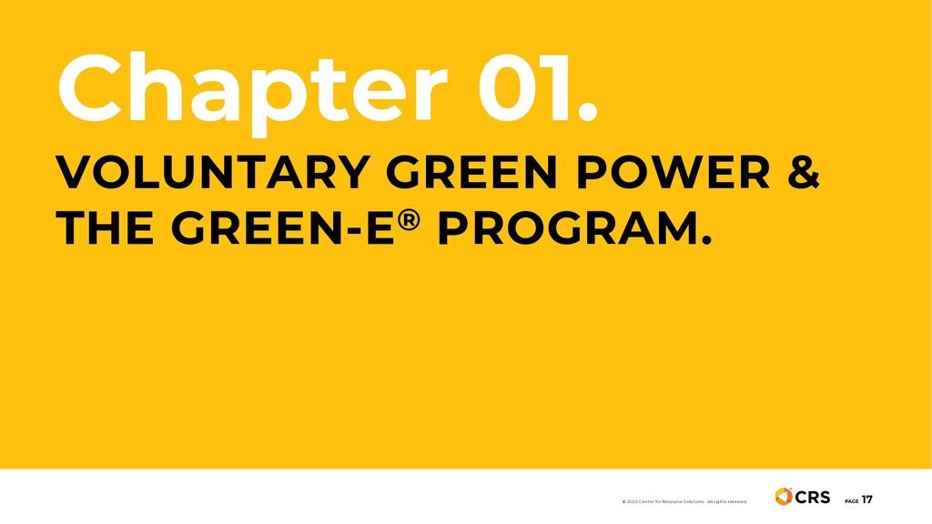 Chapter 01. VOLUNTARY GREEN POWER & THE GREEN-E...
