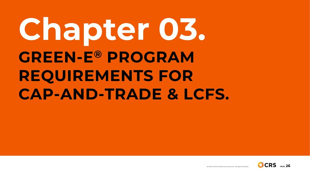 Chapter 03. GREEN-E® PROGRAM REQUIREMENTS FOR C...