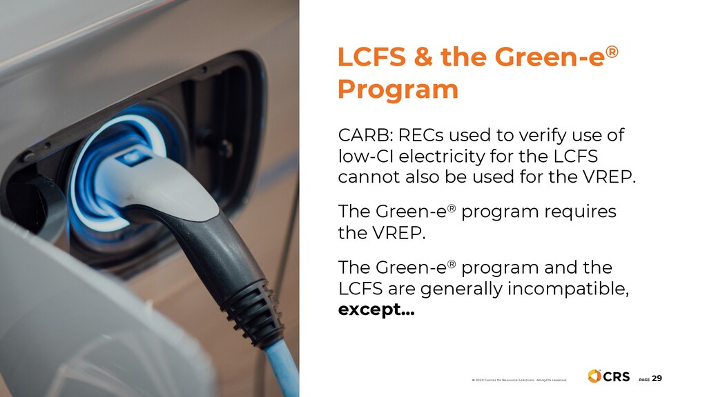 CARB: RECs used to verify use of low-CI electri...