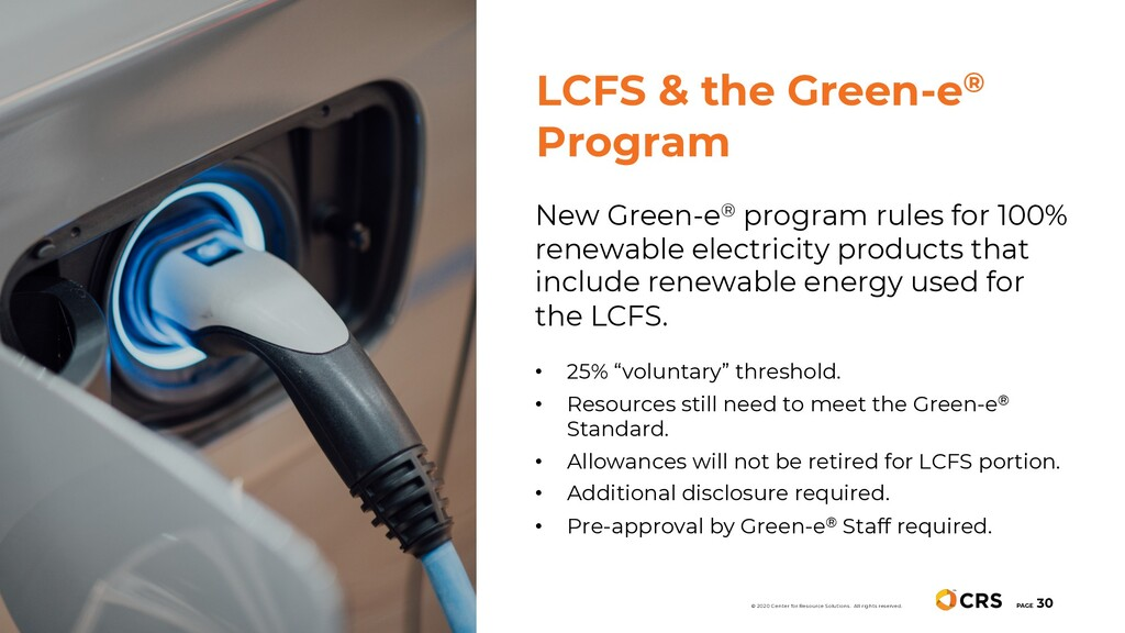 New Green-e® program rules for 100% renewable e...