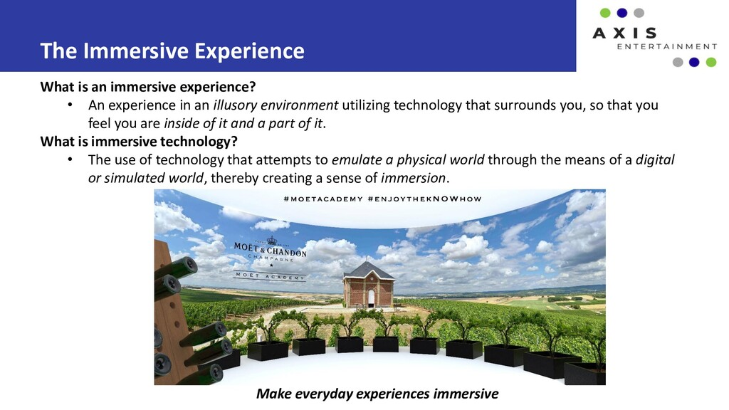 The Immersive Experience Make everyday experien...