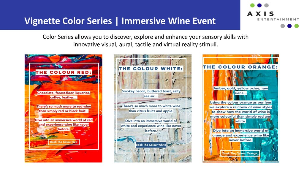 Vignette Color Series | Immersive Wine Event Co...