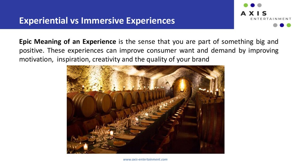Experiential vs Immersive Experiences www.axis-...