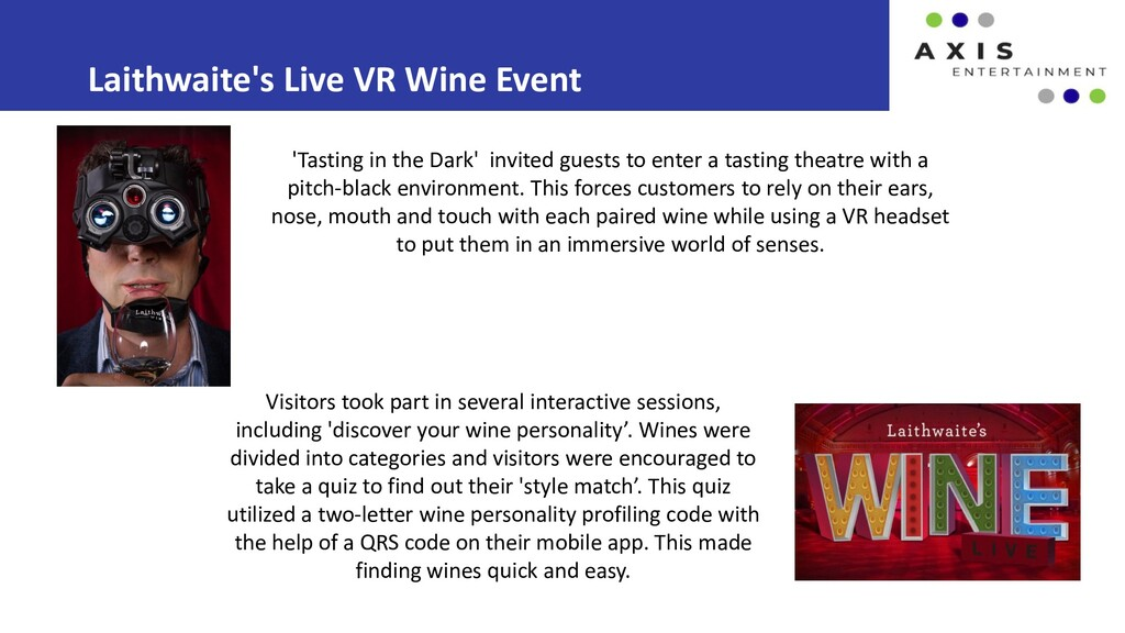 Laithwaite's Live VR Wine Event Visitors took p...