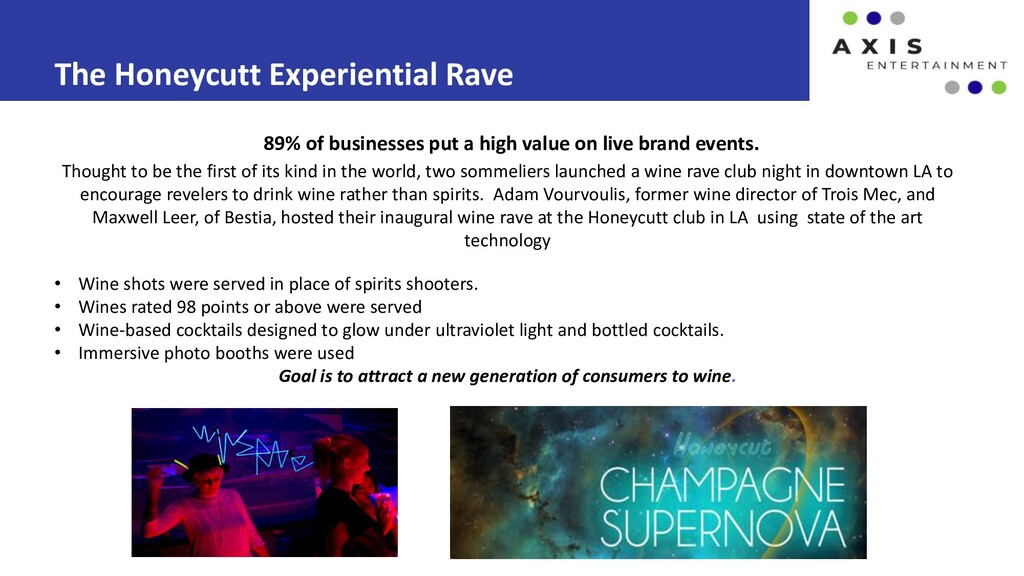 The Honeycutt Experiential Rave 89% of business...