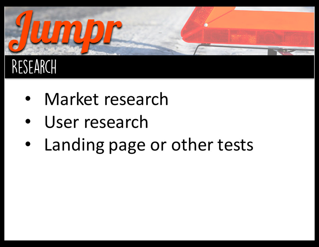 Jumpr background Research • Market research ...
