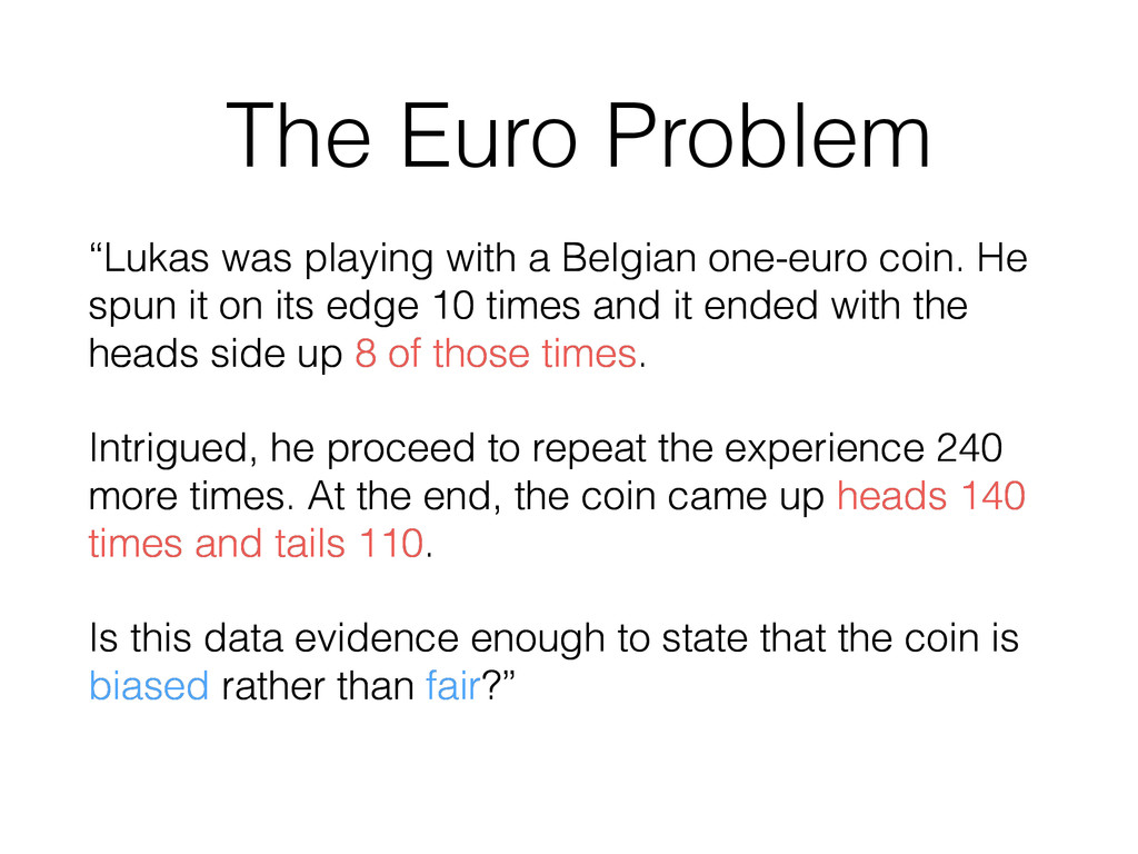 """The Euro Problem """"Lukas was playing with a Belg..."""