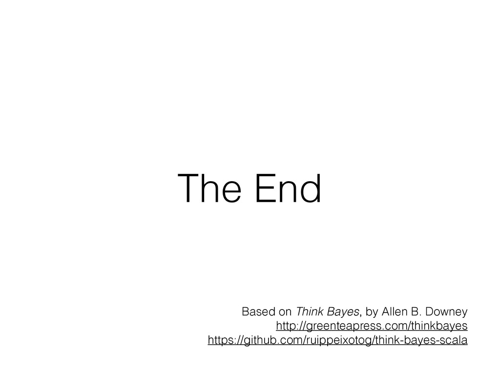 The End Based on Think Bayes, by Allen B. Downe...