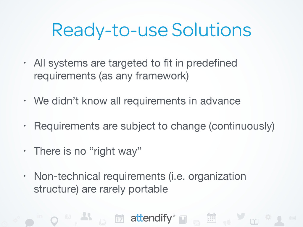 Ready-to-use Solutions ‣ All systems are target...