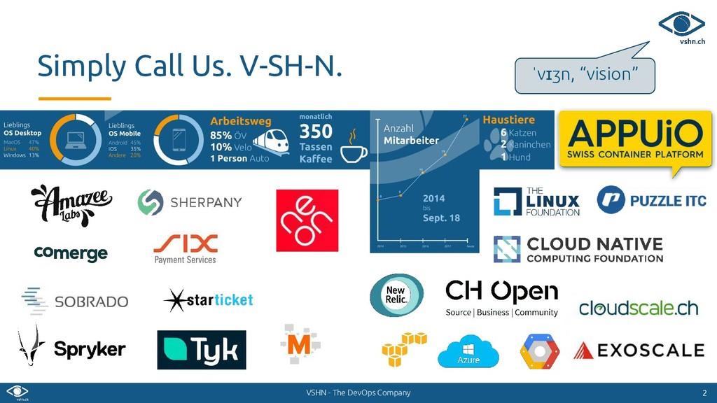 VSHN - The DevOps Company 2 2 Simply Call Us. V...