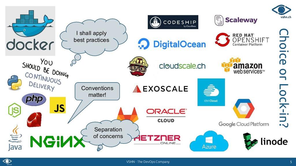 VSHN - The DevOps Company 5 5 Choice or Lock-in...