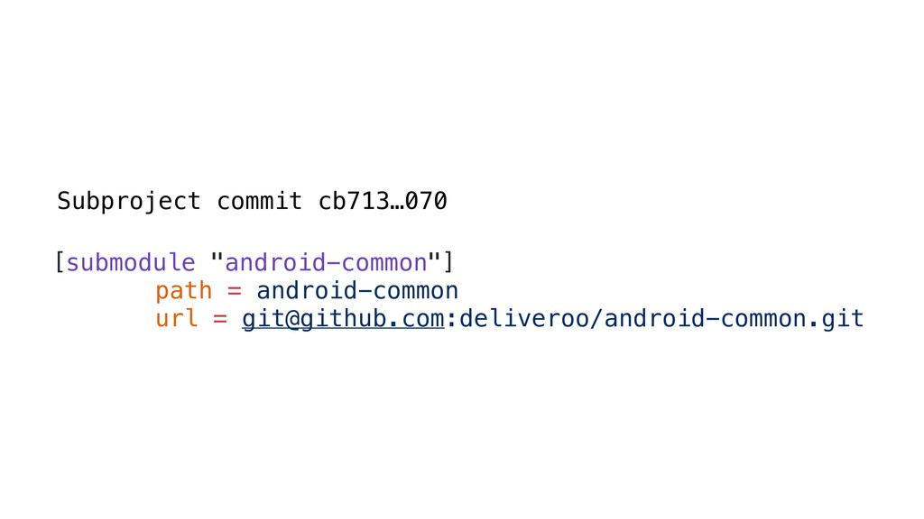 "Subproject commit cb713…070 [submodule ""android..."