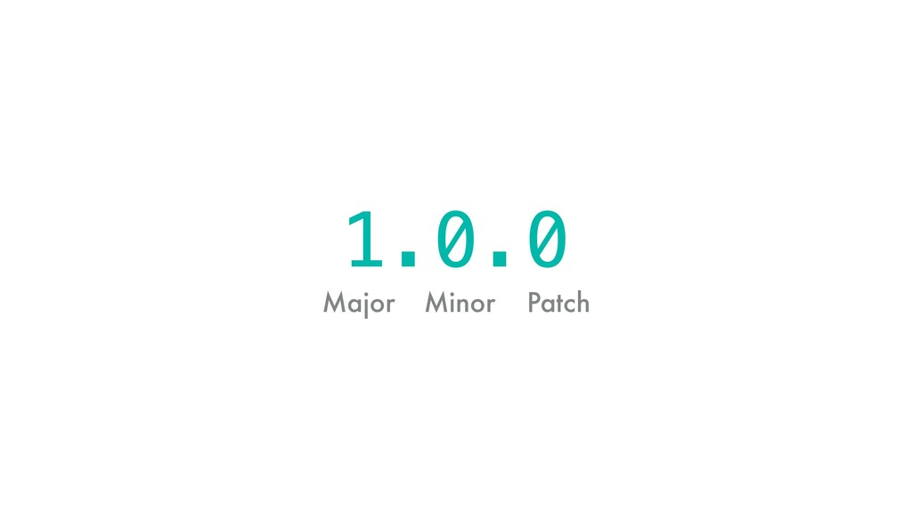Major Minor Patch 1.0.0