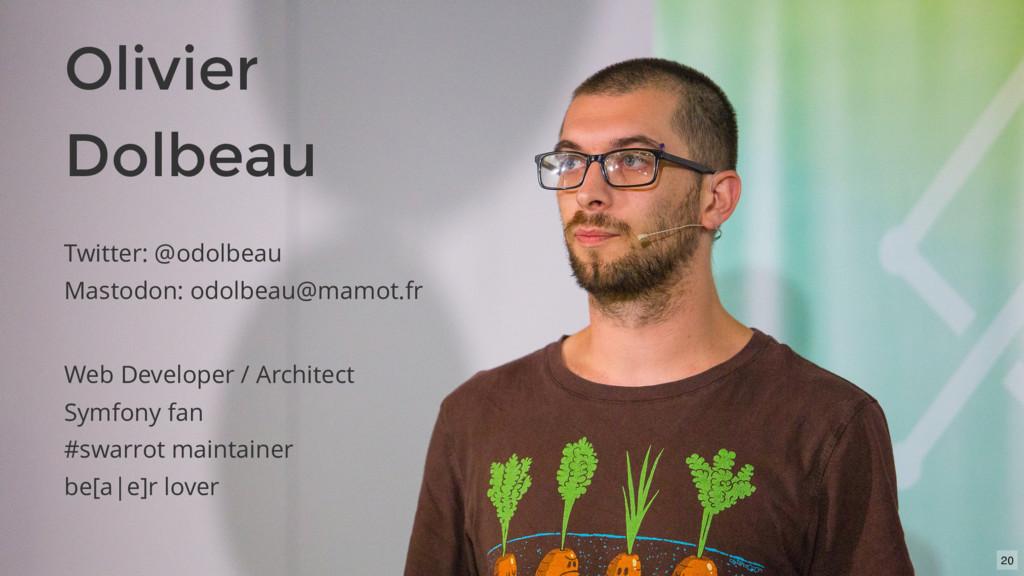 Twitter: @odolbeau Mastodon: odolbeau@mamot.fr ...