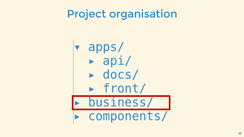 Project organisation 25