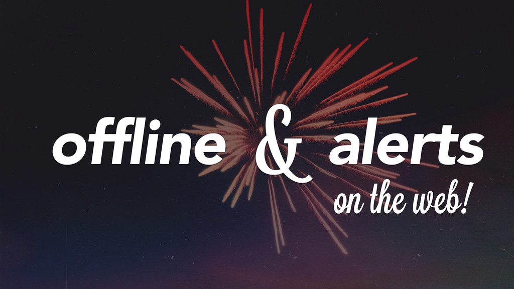 offline alerts on theiweb! &