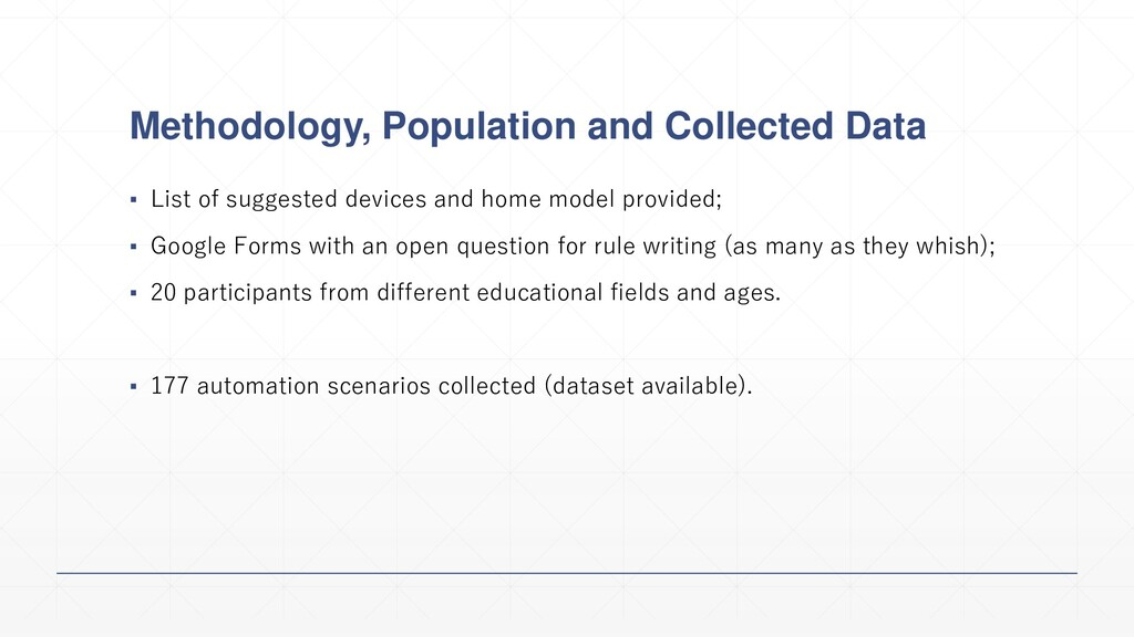 Methodology, Population and Collected Data ▪ Li...