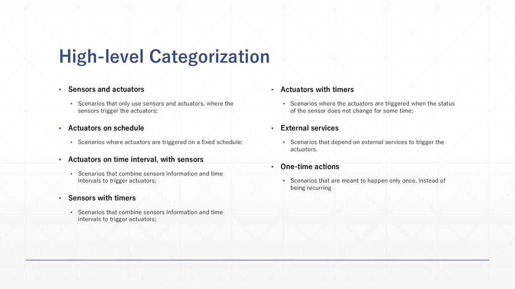 High-level Categorization ▪ Sensors and actuato...