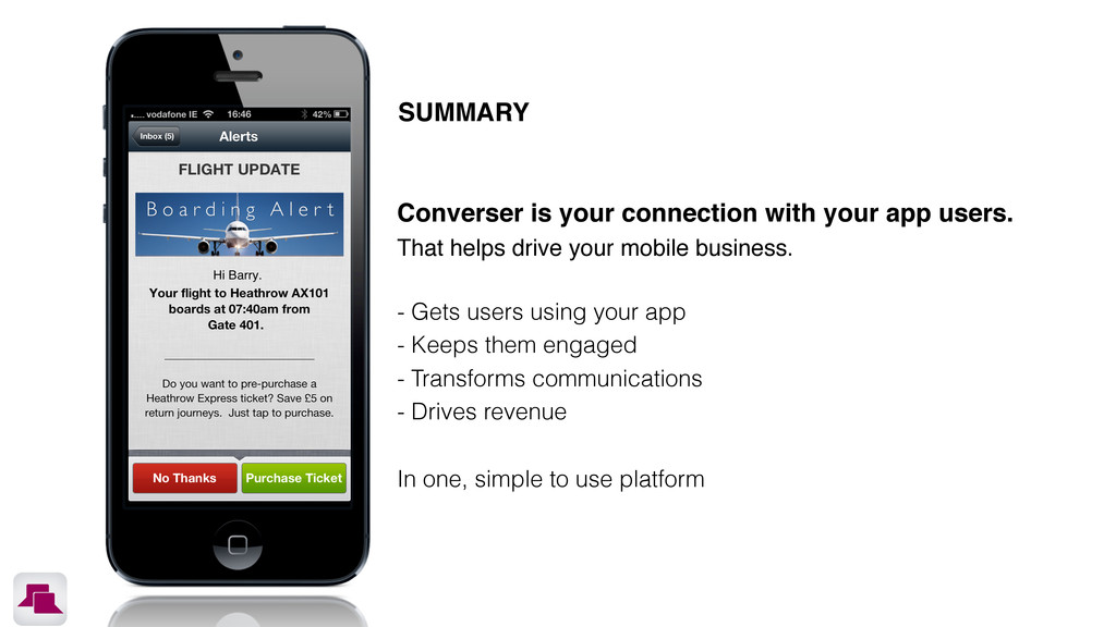 SUMMARY Converser is your connection with your ...
