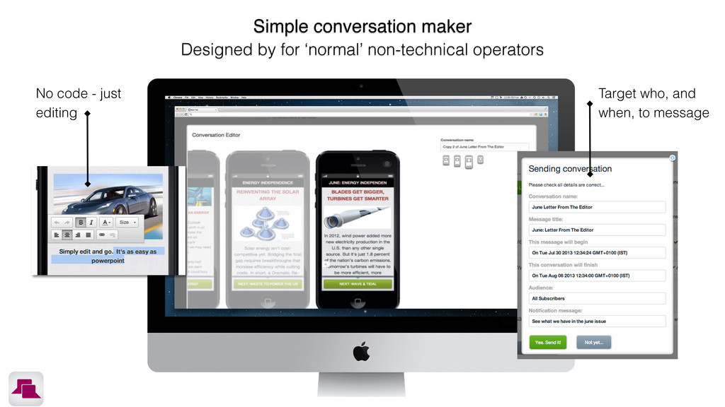 Simple conversation maker Designed by for 'norm...