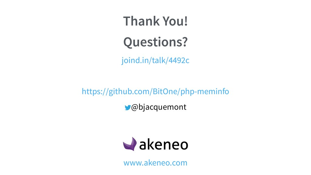 Thank You! Questions? @bjacquemont joind.in/tal...