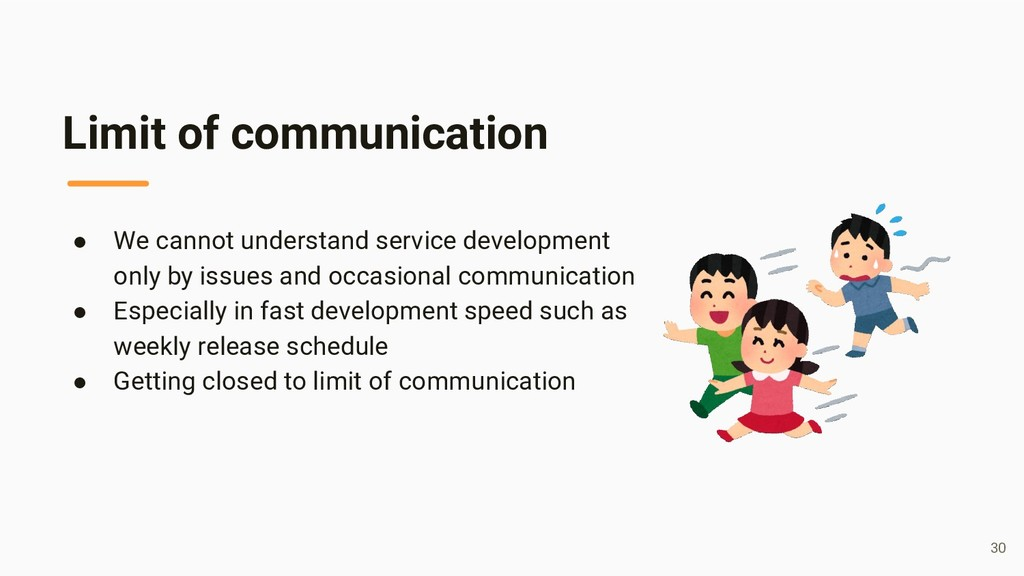 Limit of communication ● We cannot understand s...
