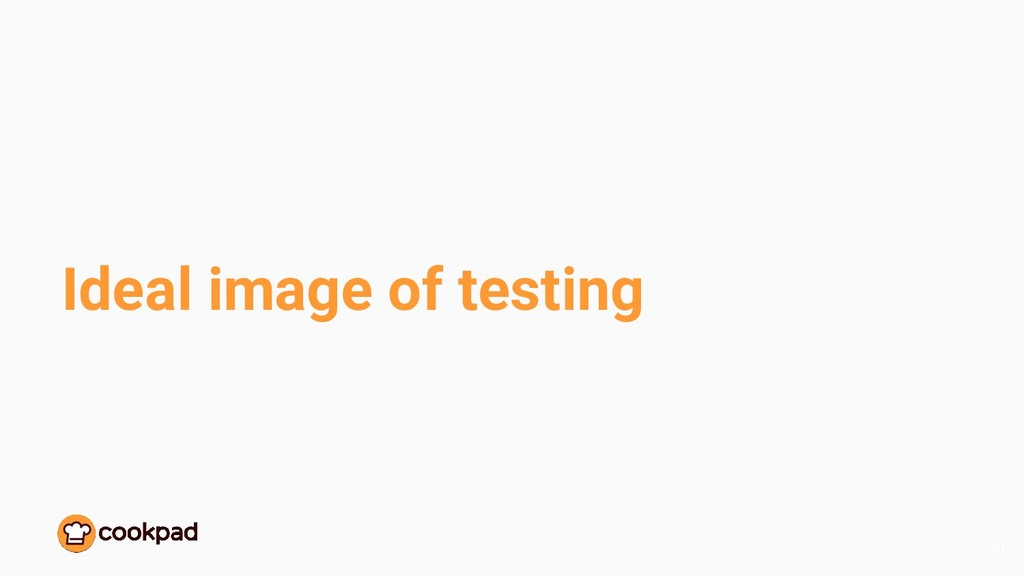 Ideal image of testing 31