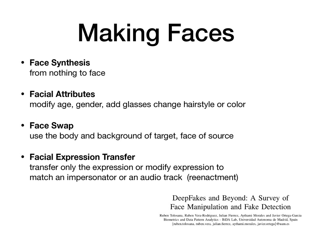 Making Faces • Face Synthesis from nothing to ...