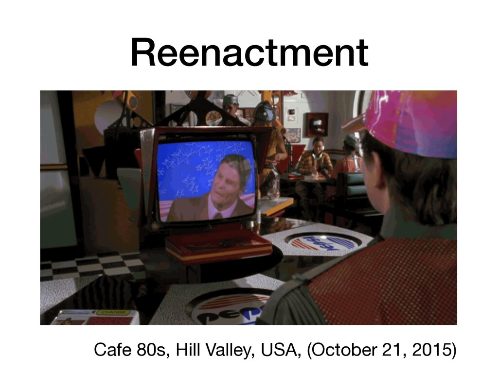 Reenactment Cafe 80s, Hill Valley, USA, (Octobe...