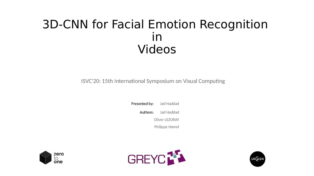 3D-CNN for Facial Emotion Recognition in Videos...