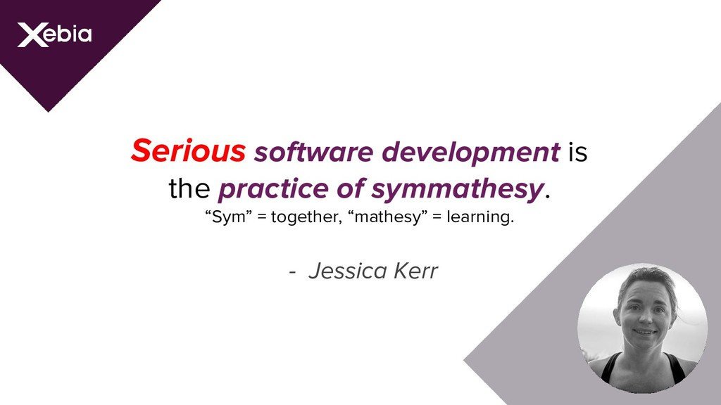 Serious software development is the practice of...