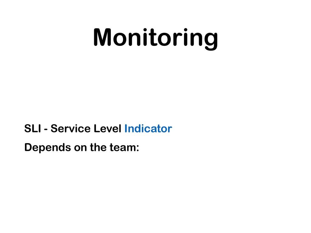 Monitoring SLI - Service Level Indicator Depend...