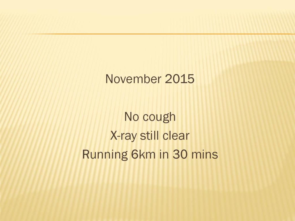 November 2015 No cough X-ray still clear Runnin...
