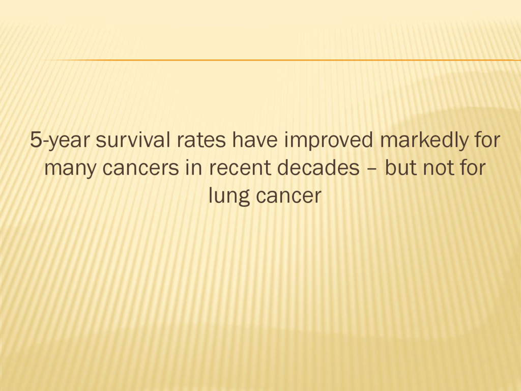 5-year survival rates have improved markedly fo...