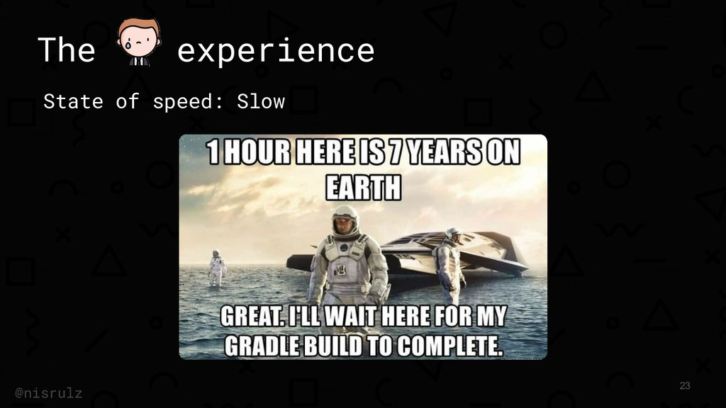 The experience State of speed: Slow 23 @nisrulz