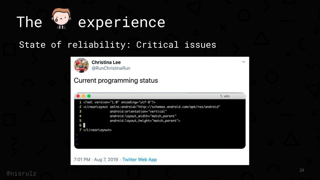 The experience State of reliability: Critical i...