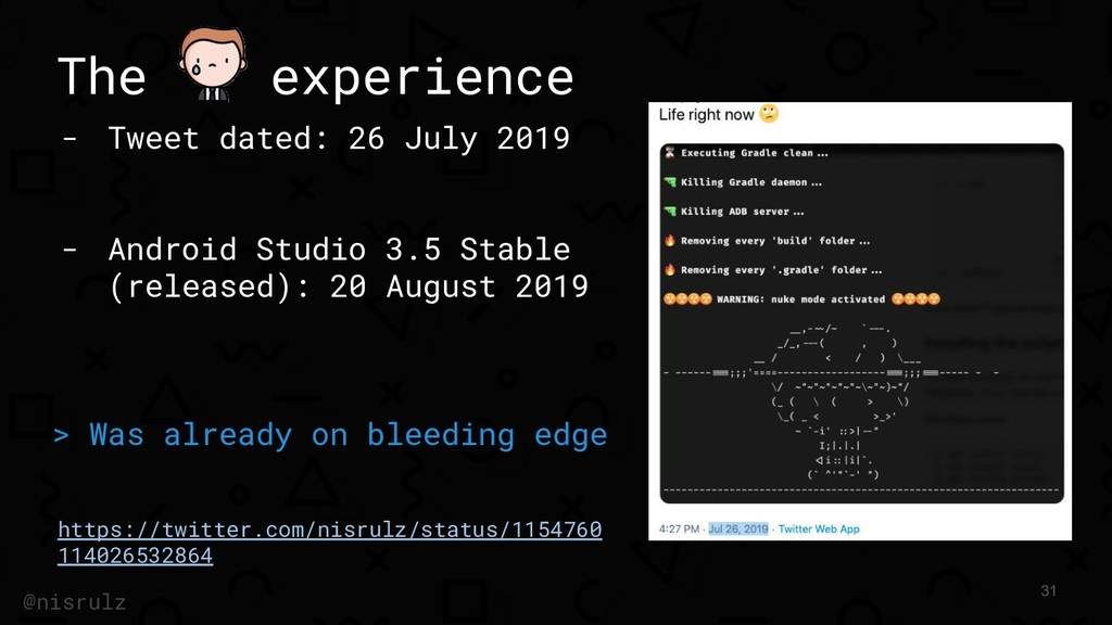 The experience - Tweet dated: 26 July 2019 - An...