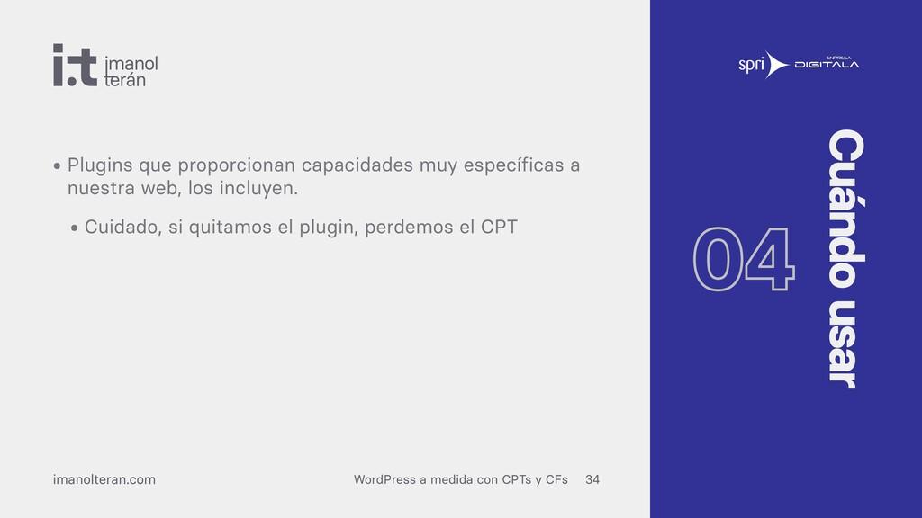 WordPress a medida con CPTs y CFs imanolteran.c...
