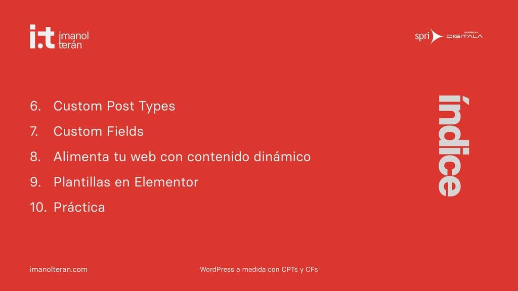 imanolteran.com 6. Custom Post Types   7. Custo...