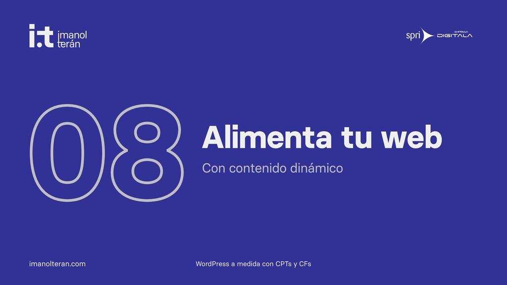 imanolteran.com 08Alimenta tu web Con contenido...