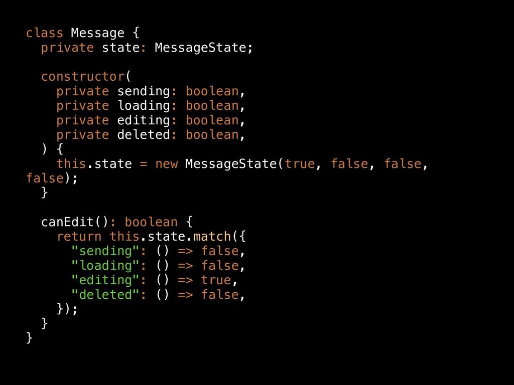 class Message { private state: MessageState; co...