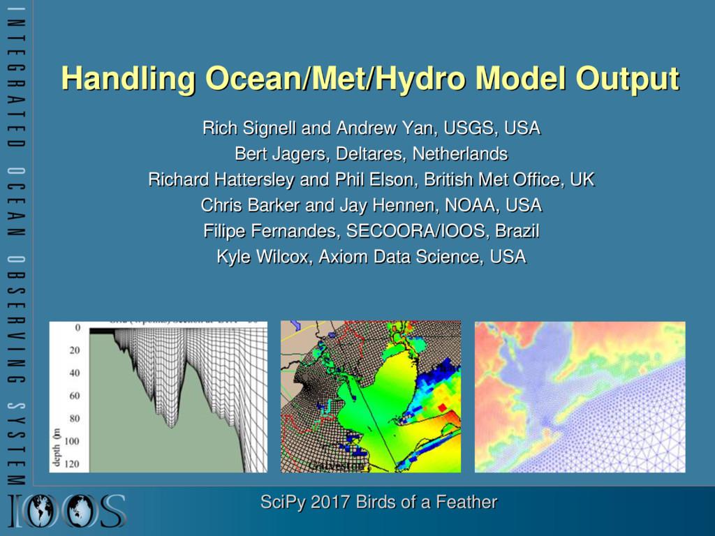 Handling Ocean/Met/Hydro Model Output Rich Sign...