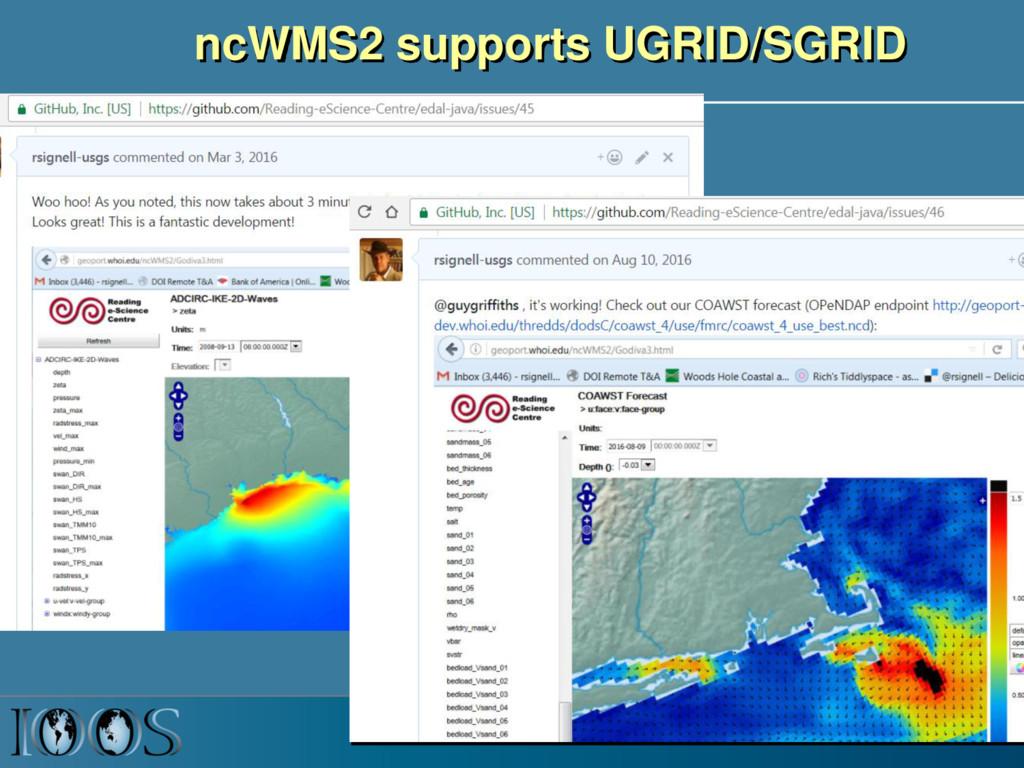 ncWMS2 supports UGRID/SGRID