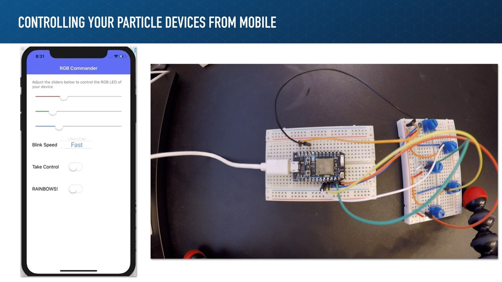 CONTROLLING YOUR PARTICLE DEVICES FROM MOBILE