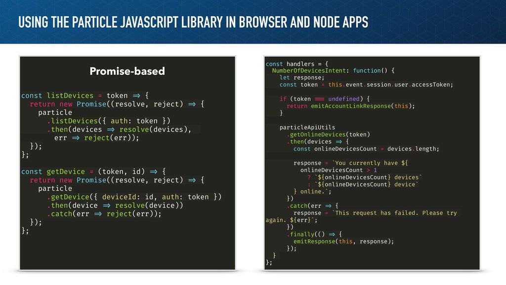 USING THE PARTICLE JAVASCRIPT LIBRARY IN BROWSE...