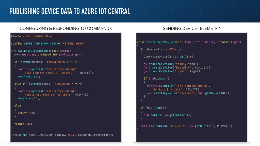 PUBLISHING DEVICE DATA TO AZURE IOT CENTRAL #in...