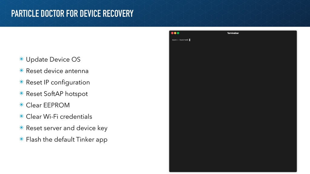 PARTICLE DOCTOR FOR DEVICE RECOVERY ✴ Update De...