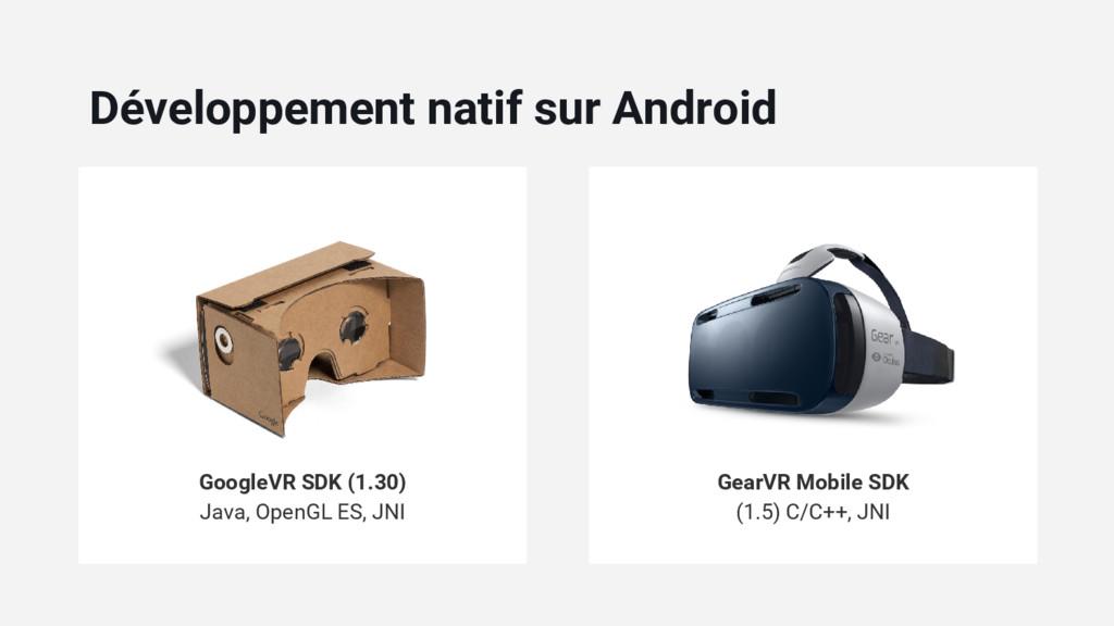 GoogleVR SDK (1.30) Java, OpenGL ES, JNI GearVR...