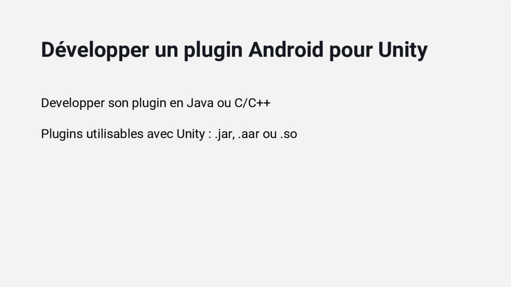Developper son plugin en Java ou C/C++ Plugins ...