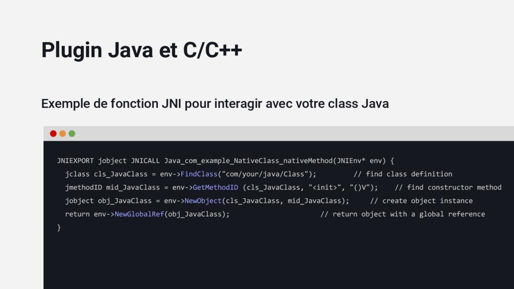 Exemple de fonction JNI pour interagir avec vot...